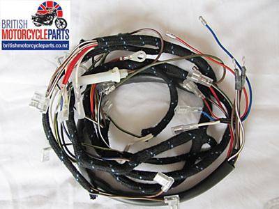 BSA A50 A65 Wiring Loom 1968-69 - No Oil Light Switch