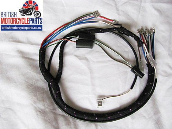 BSA A65 Headlight Wiring Loom / Harness 1971 to 1973 OIF Oil in Frame Models