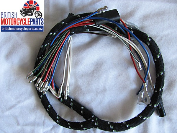 BSA A75 Rocket 3 Cloth Braided Headlight Wiring Loom Harness 1971-73