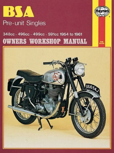 BSA Pre-Unit Singles 1954-61 Workshop Manual