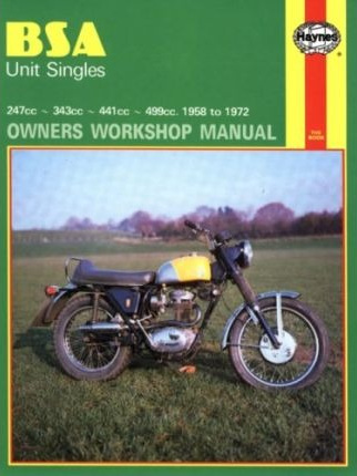BSA Unit Singles Workshop Manual