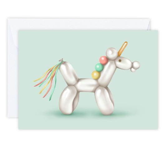 Bubbles the Unicorn Card