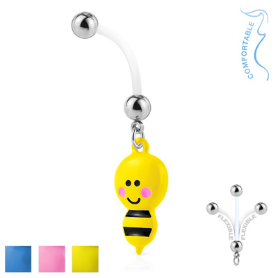 Bumble Bee Pregnancy Belly w/ Bioflex 316L Surgical Steel Balls