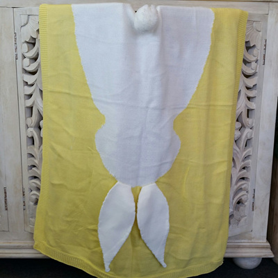 Bunny Cot Blanket - Butter Cream