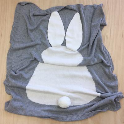 Bunny Cot Blanket - Grey