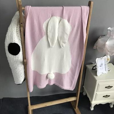 Bunny Cot Blanket - Pink