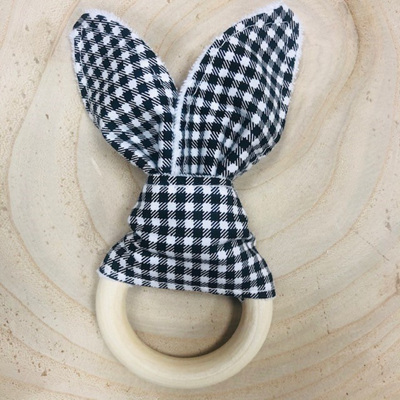 Bunny Ear Teether Gingham