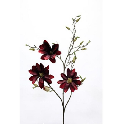 Burgundy Red Magnolia Spray