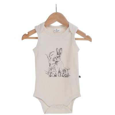 Burrow & Be Almond Baxter Singlet Onesie