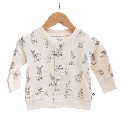 Burrow & Be Fleece Cardigan Almond Burrowers