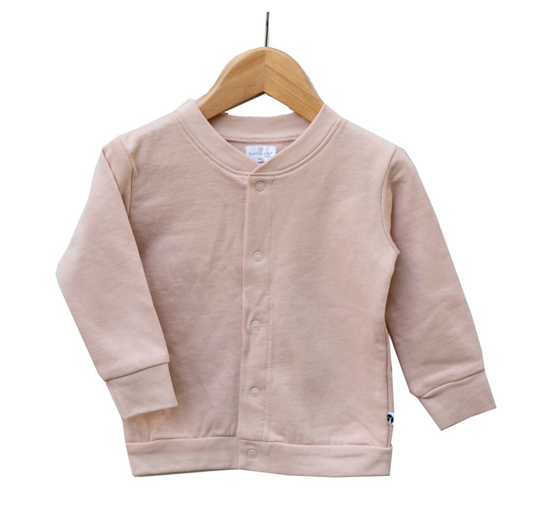 Burrow & Be Fleece Cardigan Dusty Rose