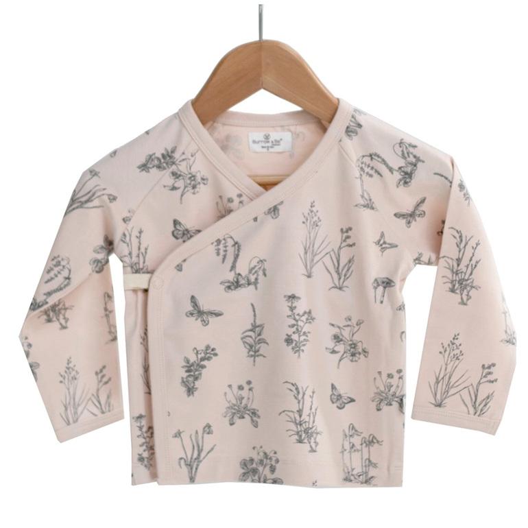 Burrow & Be Kimono Top Blush Meadow