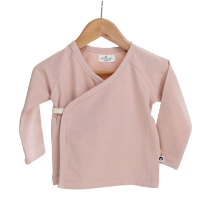 Burrow & Be Kimono Top Dusty Rose