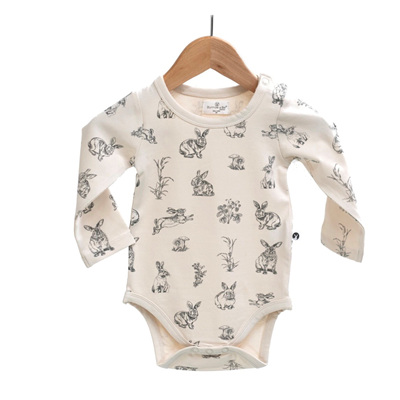 Burrow & Be Long Sleeve Onesie Almond Burrowers