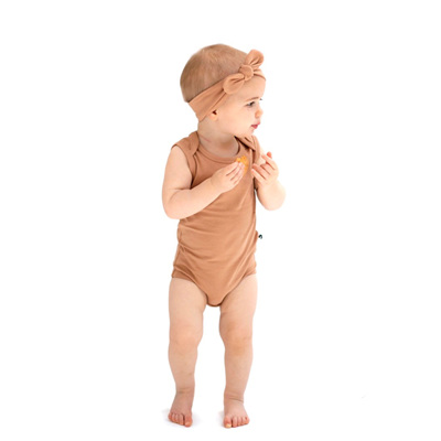 Burrow & Be Tawny Brown Singlet Onesie