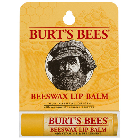 Burts Bees 100% Natural Beeswax With Vitamin E & Peppermint Lip Balm 4.25g