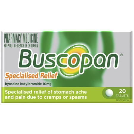 Buscopan Tablets 20 Pack