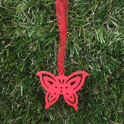 Butterfly Decoration - Red