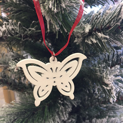 Butterfly Decoration - White
