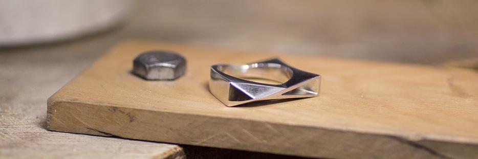 buy contemporary men's platinum, palladium and gold wedding rings online