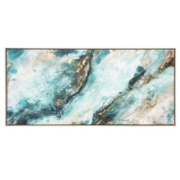 Cadence Matt Canvas Print W Foil & Natural Frame 150x70cm