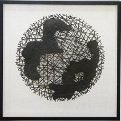 Cahya Wall Art/Black Frame - 90x90cm