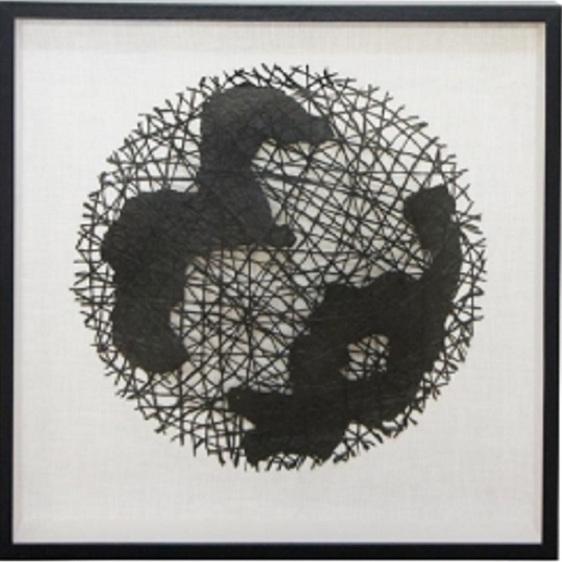 Cahya Wall Art/Black Frame - 90x90cm