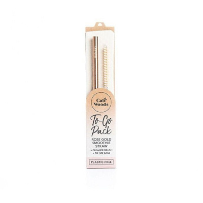 CaliWoods Smoothie Straw To Go Pack - Rose Gold