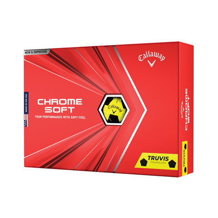 Callaway 2020 Chrome Soft Truvis Dozen Golf Balls - Yellow/Black