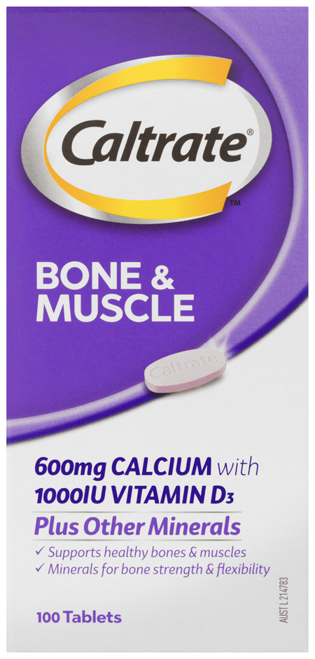Caltrate Bone & Muscle 100's