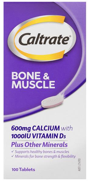 Caltrate Bone & Muscle 100's
