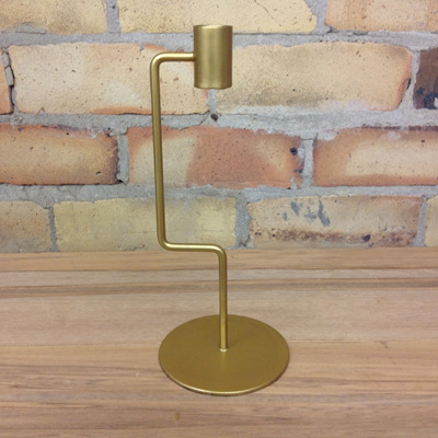 Gold Right Angle Candle Holder