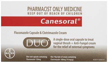 Canesoral Duo Thrush Treatment Oral Capsule & External Cream
