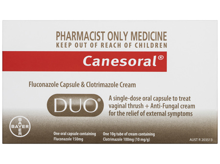 Canesoral Duo Thrush Treatment Oral Capsule & External Cream
