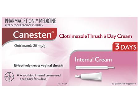 Canesten 3 Day Thrush Treatment Internal Soothing Cream 20g