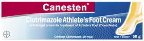 Canesten Anti-Fungal Athlete's Foot (Tinea Pedis) Cream 50g