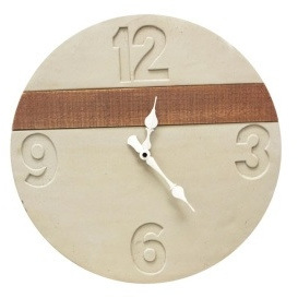 Capri Concrete Clock - Concrete 40cmd
