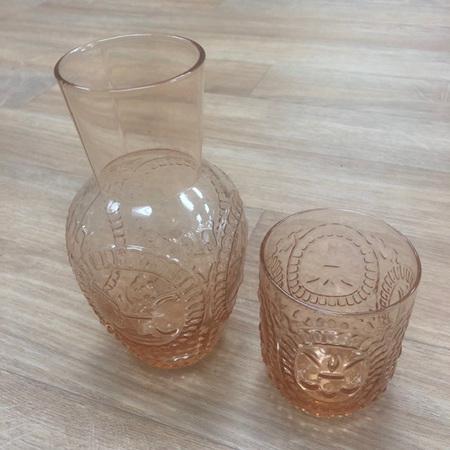 Carafe Set Amber Pitcher & Glass