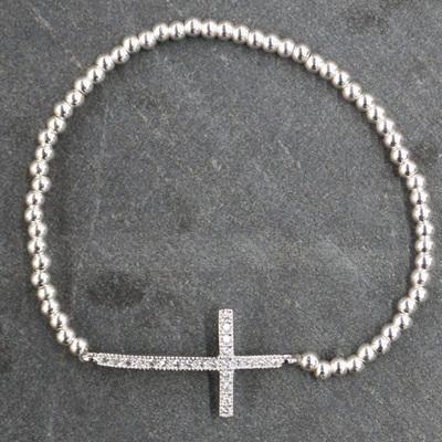Cardinal Cross Bracelet - Silver
