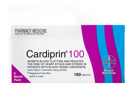 Cardiprin Blood Clotting Reduction Tablets 100mg Aspirin 180 pack