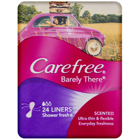 Carefree Barely There Liners Shower Fresh 24 Pack