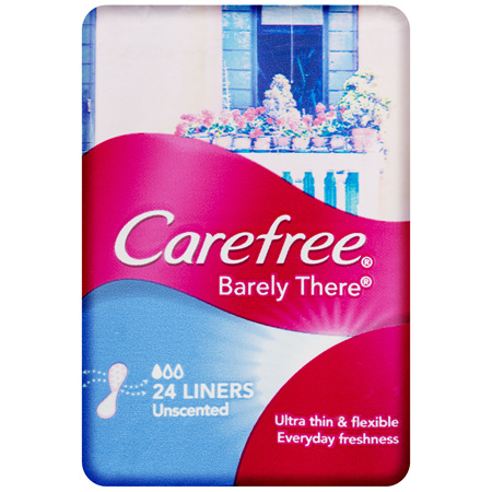 Carefree Barely There Liners Unscented Panty 24 Pack