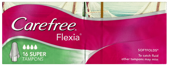 Carefree Flexia Tampons Super 16 Pack