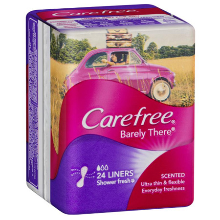 CAREFREE Liner Barely There Shower Fresh 24