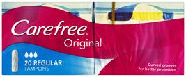 Carefree Original Tampons Regular 20 Pack