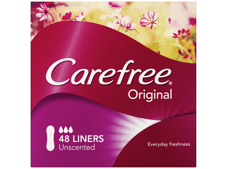 Carefree Original Unscented Panty Liners 48 Pack