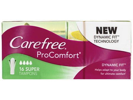 Carefree ProComfort Super Tampons 16 Pack