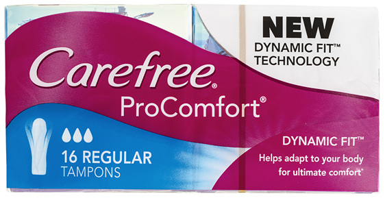 Carefree ProComfort Tampons Regular 16 Pack