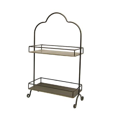 Carter Rectangular 2 Tier Display Shelf - Large