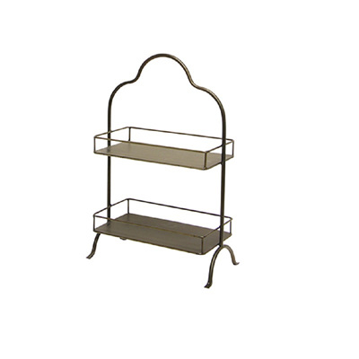 Carter Rectangular 2 Tier Display Shelf - Small